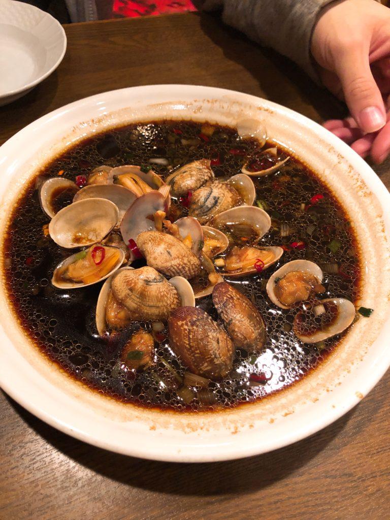 「蛤の甘辛炒め」の画像
