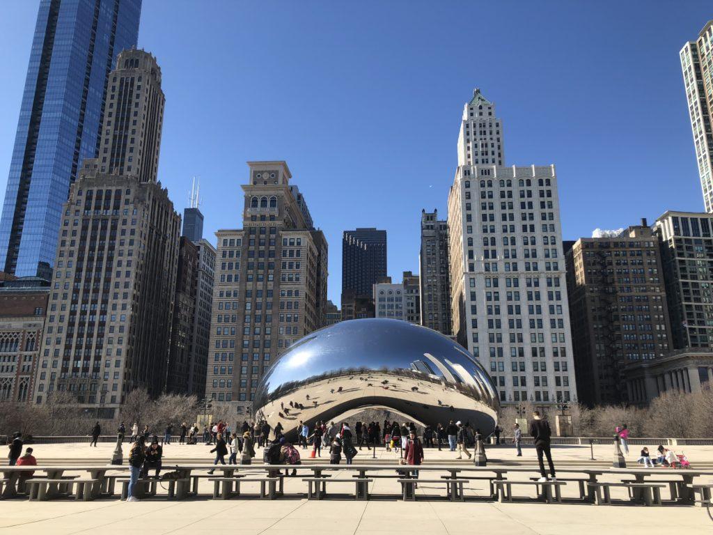 シカゴの「The Bean」の画像