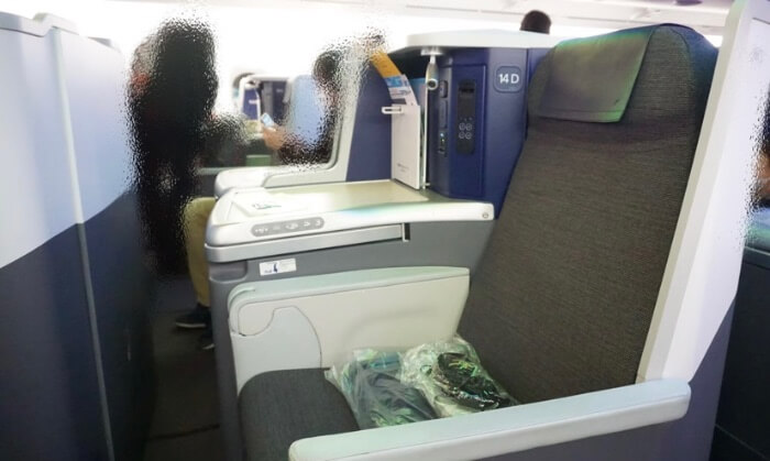 ビジネスクラス座席の画像